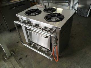 【中古】オーブン付きガスレンジ/マルゼン MGRD-096D 2008年製 幅900×奥行600×高さ800